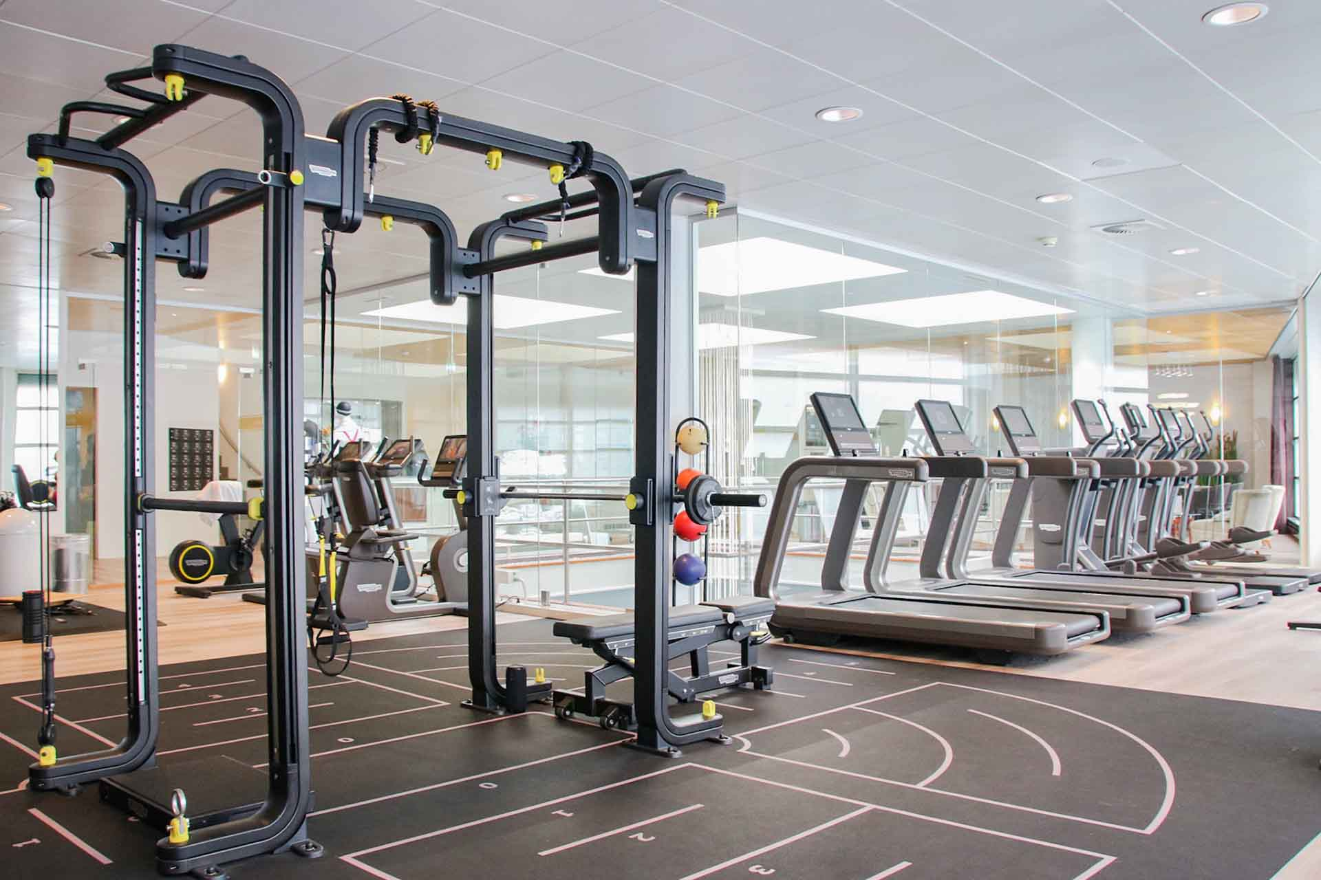Fitness equipment at Nagomi Health
