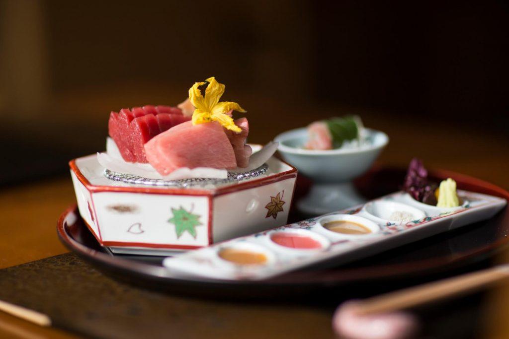Traditional Japanese kaiseki cuisine