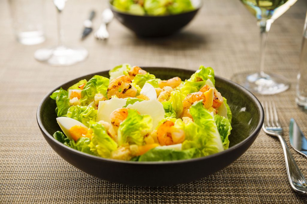 The classic Caesar salad