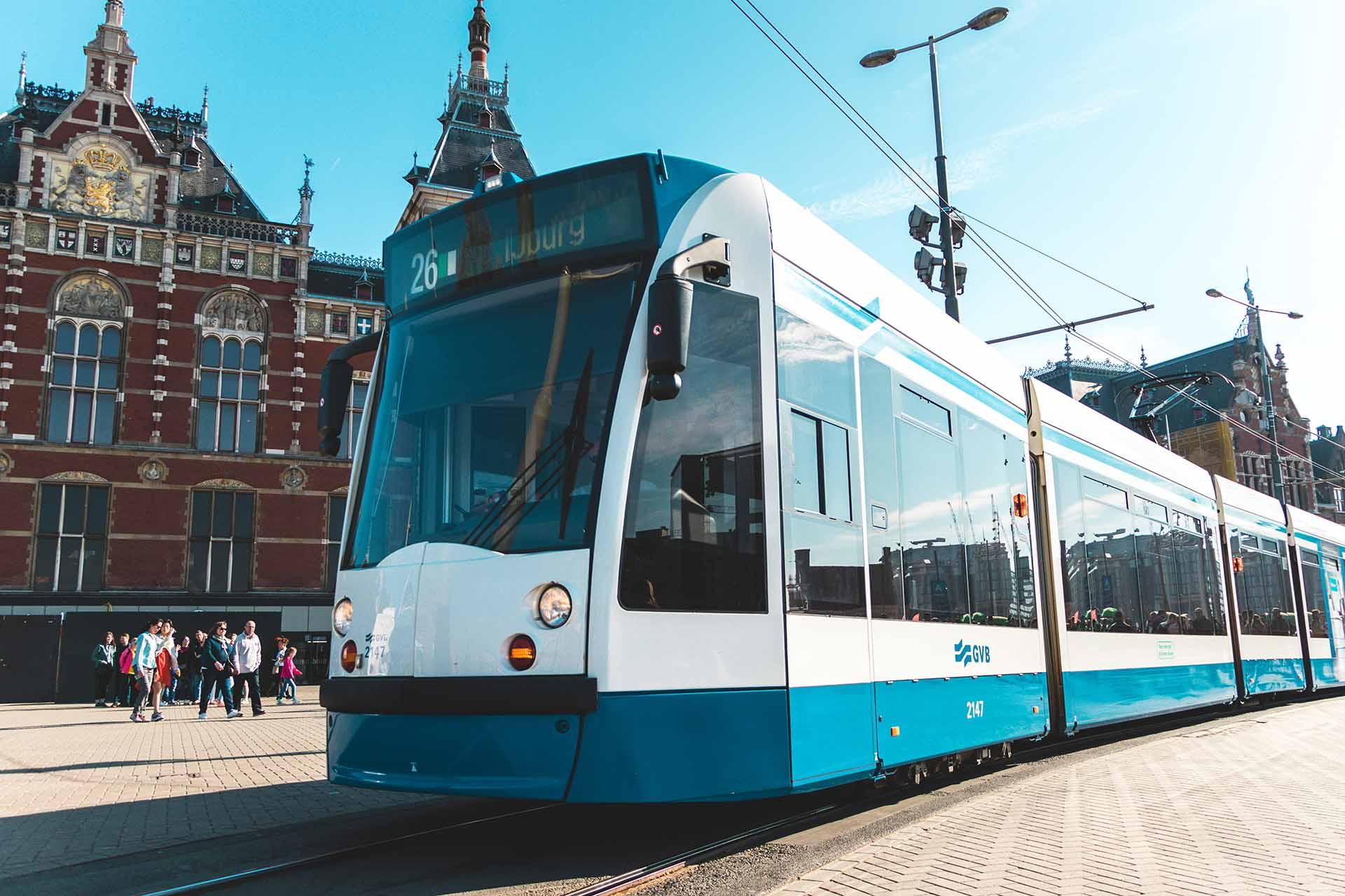Tram bij Centraal Station