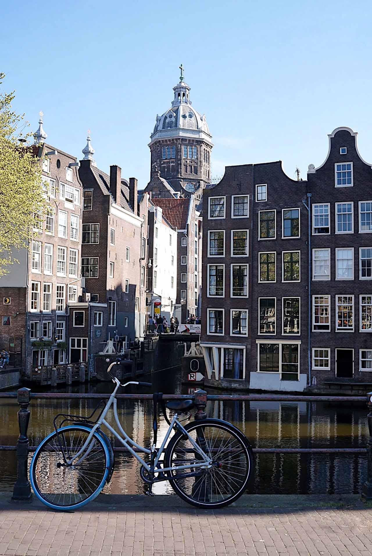 Bike and canal Amsterdam